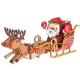 Bouwpakket Kerstman in Arreslee- kleur