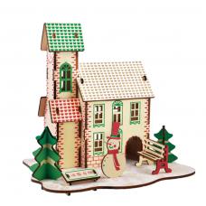 Bouwpakket Huisje Kerst- kleur