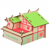 Bouwpakket Tibetaans Huisje- kleur