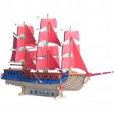 Bouwpakket Zeilschip Driemaster- kleur
