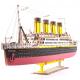 Bouwpakket Titanic groot hout- kleur