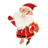Bouwpakket Kerstman gekleurd