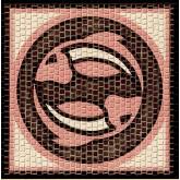 Mozaïek Sterrenbeeld Vissen- Steen