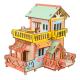 Bouwpakket Huisje met Dakterras- kleur