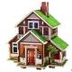Bouwpakket Noors Huis, gekleurd