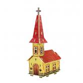 Bouwpakket Noors Kerkje, gekleurd