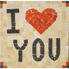 Mozaïek 'I Love You' Mozaïkit- Steen 17 x 17 cm