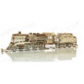 Bouwpakket Stoomlocomotief met Tender Mechanisch- hout
