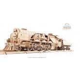 Bouwpakket V- Expresse Stoomlocomotief met Tender Mechanisch