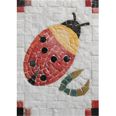Mozaïek Lieveheersbeestje Mozaïkit- Steen 17 x  20 cm