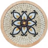 Mozaïek Mandala Medallion nr. 5- Steen