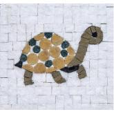 Mozaïek Schildpad Mozaïkit- Steen 12 x 12 cm