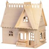 Bouwpakket Poppenhuis 'Huis met Dakkapel'- B-keuze, DH002-2
