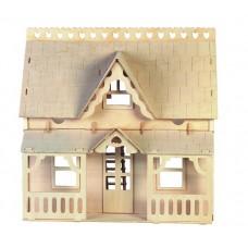 Bouwpakket Poppenhuis 'Huis met Veranda' 1:12