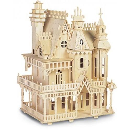 Bouwpakket poppenhuis 39 villa fantasia 39 1 24 for Poppenhuis bouwen