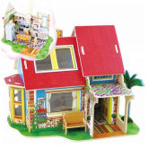 Bouwpakket Keuken incl. inrichting (ook als onderdeel van het poppenhuis Droomvilla)