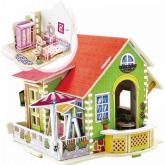 Bouwpakket Slaapkamer incl. inrichting (ook als onderdeel van het poppenhuis Droomvilla)