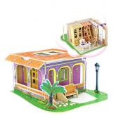 Bouwpakket Werkkamer/Studiekamer incl. inrichting (ook als onderdeel van het poppenhuis Droomvilla)