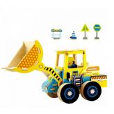 Bouwpakket Bulldozer, gekleurd