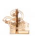 Bouwpakket Knikkerbaan Rollercoaster Hybride op Zonne-energie of batterij- hout
